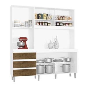 Cozinha Compacta Florença 04 Portas Branco Malbec INC Milani Store
