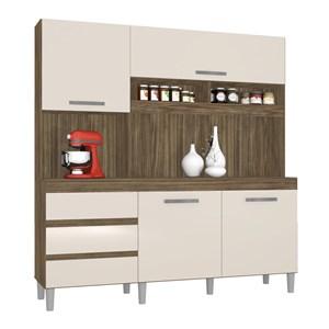 Cozinha Compacta Florença 04 Portas Teka Champanhe INC Milani Store