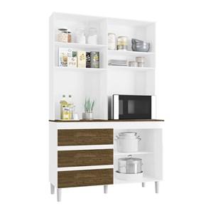 Cozinha Compacta Smart 03 Portas Branco Malbec INC Milani Store