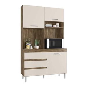 Cozinha Compacta Smart 03 Portas Teka Champanhe INC Milani Store