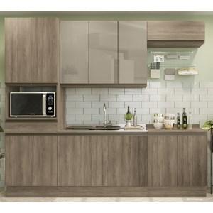 Cozinha Completa Modulada 06 Peças Maxxi 01 Nogal Kappesberg
