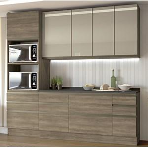 Cozinha Completa Modulada 07 Peças Maxxi 12 Nogal Preto Kappesberg