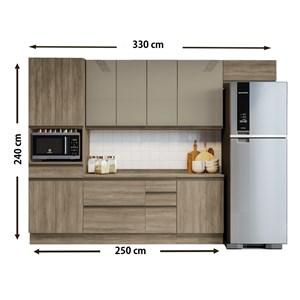 Cozinha Completa Modulada 08 Peças Maxxi 03 Nogal Kappesberg