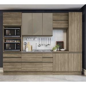 Cozinha Completa Modulada 08 Peças Maxxi 08 Nogal Kappesberg