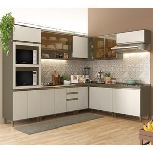 Cozinha Completa Modulada 100% MDF 09 Peças Connect 26 Duna Cristal Henn