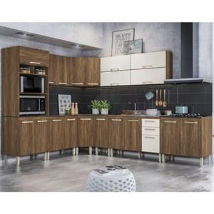 Cozinha Completa Modulada 12 Peças Loá Evora Rust Off White Nicioli