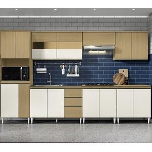 Cozinha Completa Modulada Kelly 04 Atacama Off White ARM Milani Store