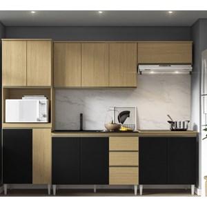 Cozinha Completa Modulada Kelly 05 Atacama Preto ARM Milani Store
