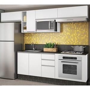 Cozinha Modulada 08 Peças 100% MDF Kali Premium Branco Nicioli