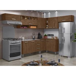 Cozinha Modulada 08 Peças Milena 2701 Marrom Milani Movelaria