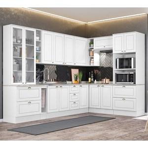 Cozinha Modulada 10 Peças 100% MDF Americana 6 Branco Henn