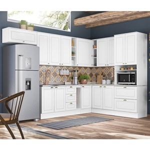 Cozinha Modulada 10 Peças 100% MDF Americana 7a Branco Henn