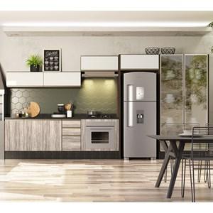 Cozinha Modulada 10 Peças 100% MDF Kali Premium Amendoa Arezzo Off White Nicioli