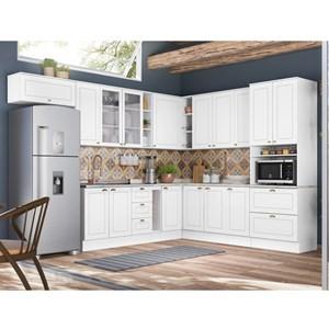 Cozinha Modulada 11 Peças 100% MDF Americana 7b Branco Henn