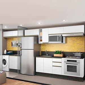 Cozinha Modulada 11 Peças 100% MDF Kali Premium Branco Nicioli