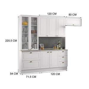 Cozinha Modulada 4 Peças 100% MDF Americana 1 Branco Henn