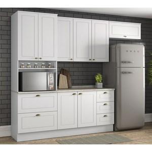 Cozinha Modulada 4 Peças 100% MDF Americana 4a Branco Henn
