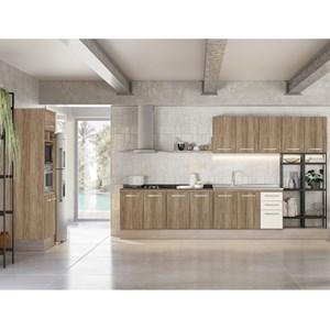 Cozinha Modulada Loá 06 Peças Composição 9765.1 Carvalho Rustico Off White Nicioli