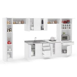 Cozinha Modulada Mali 07 Peças Branco Politorno
