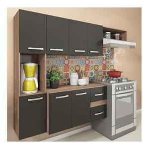 Cozinha Suspensa 07 Portas Mali CM06 Teka Grafite Fellicci Moveis