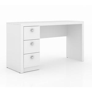 Escrivaninha 03 Gavetas Reversível ME4102 Branco Tecno Mobili