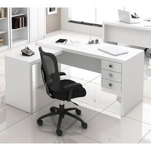 Escrivaninha 03 Gavetas Reversível ME4106 Branco Tecno Mobili