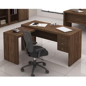 Escrivaninha 03 Gavetas Reversível ME4106 Nogal Tecno Mobili