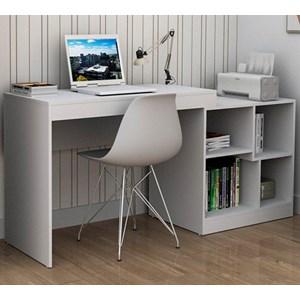 Escrivaninha Com Montagem De Canto Ou Reta ESC3001 Branco APT Milani Store