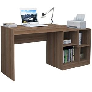Escrivaninha Com Montagem De Canto Ou Reta ESC3001 Castanho APT Milani Store