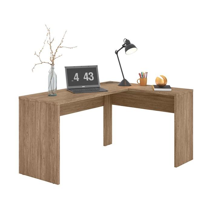 Escrivaninha De Canto Office Presence 29400 Nogal Touch Demobile
