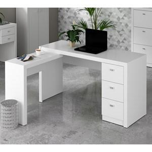 Escrivaninha De Canto Reversível ME4101 Branco Tecno Mobili