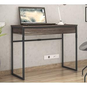 Escrivaninha Estilo Industrial Brisa Ameixa Negra Preto NB Milani Store