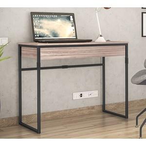 Escrivaninha Estilo Industrial Brisa Carvalho Preto NB Milani Store