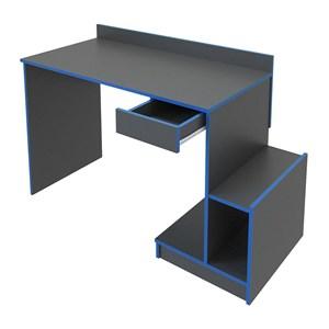 Escrivaninha Gamer 01 Gaveta B41 Preto Azul Nova Mobile