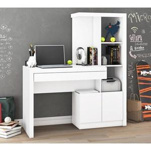 Escrivaninha Para Computador Com Armario ME4143 Branco Tecno Mobili