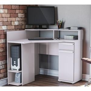 Escrivaninha Para Computador S973 Branco Kappesberg