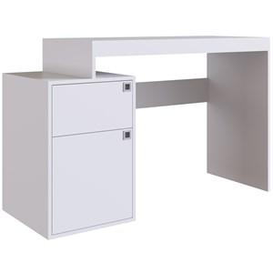Escrivaninha Para Escritorio 1 Porta OB004 Branco PP Milani Store
