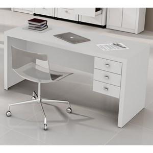 Escrivaninha Para Escritorio ME4113 Branco Tecno Mobili