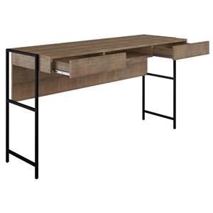 Escrivaninha Para Escritorio Steel Quadra 27800 Vermont Preto Fosco Artesano