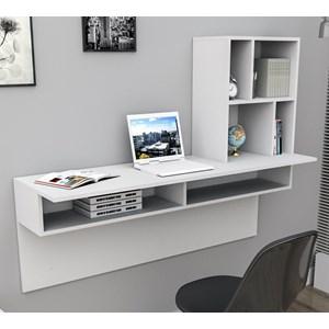 Escrivaninha Suspensa Work ESC4003 Branco APT Milani Store
