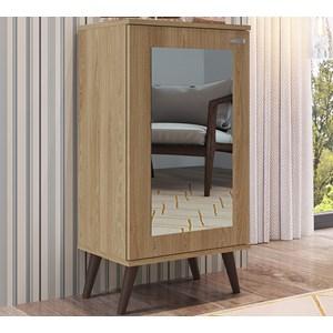 Estante Armario Retro Com Espelho EST120 Oak Completa Moveis