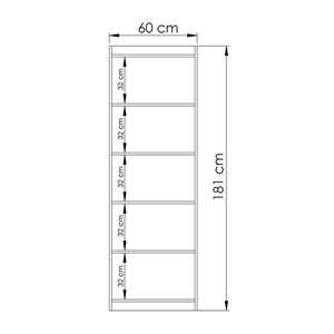 Estante Livreiro 02 Portas HO2906 Avelã/Onix Hecol