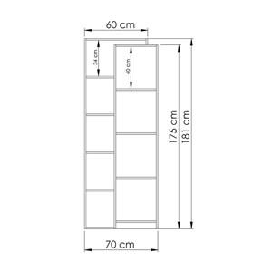 Estante Livreiro 02 Portas HO2909 Avelã/Branco Hecol