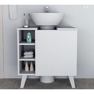 Gabinete Para Pia De Banheiro BAC5000 Branco APT Milani Store