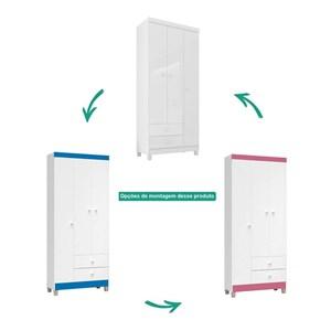 Guarda Roupa 3 Portas E Comoda Alexa Baby Branco INC Milani Store