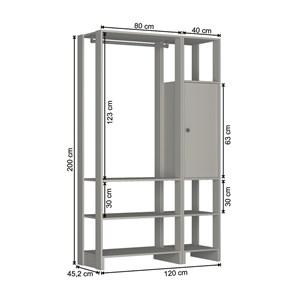 Guarda Roupa Closet 01 Porta 05 Prateleiras Yes EY101.107 Montana Nova Mobile