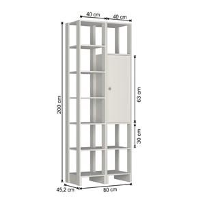 Guarda Roupa Closet 1 Porta 9 Nichos Yes EY104.107 Branco Nova Mobile