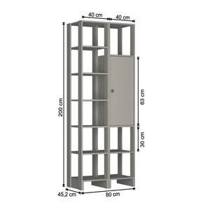 Guarda Roupa Closet 1 Porta 9 Nichos Yes EY104.107 Montana Nova Mobile