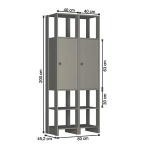 Guarda Roupa Closet 2 Portas 6 Nichos Yes EY107.107 Montana Nova Mobile