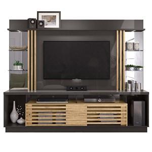 Home Theater Para TV 55 Polegadas Frizz Gold Titanio Carvalho Madetec